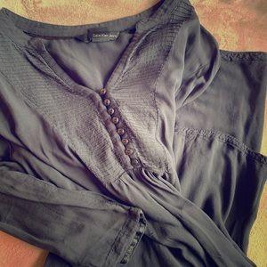 Calvin Klein gray blouse